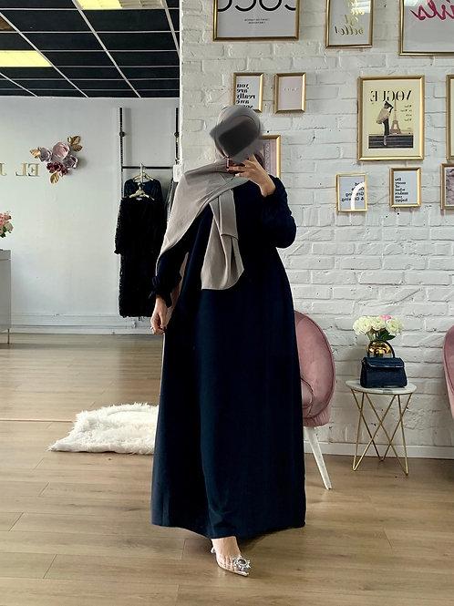 Abaya / Sous robe FLUIDE - Bleu Marine