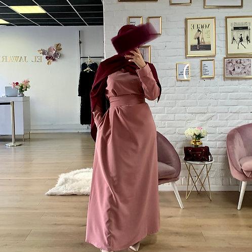 Abaya / Sous robe BASIC -  Rose