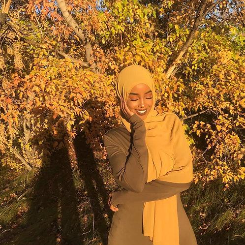 Maxi Hijab Moutarde *1m70*