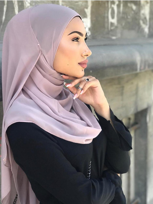 Maxi Hijab Mousseline Lilas *1m70*
