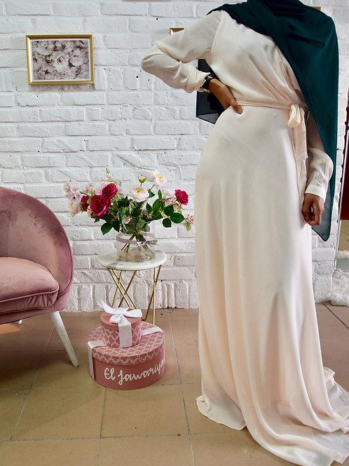 Robe Mariam - Crème