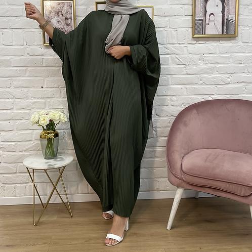 Abaya FARASHA plissé - Vert kaki