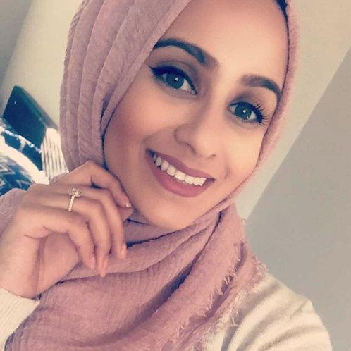 Maxi Hijab à franges Vieux rose