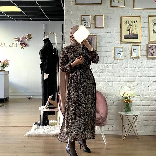Robe LEO - Noir et bronze