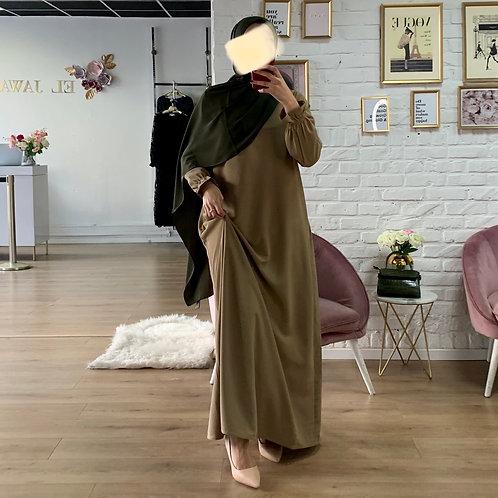 Abaya / Sous robe FLUIDE - Camel