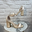 Thumbnail: Sandale à talon CROCO Beige