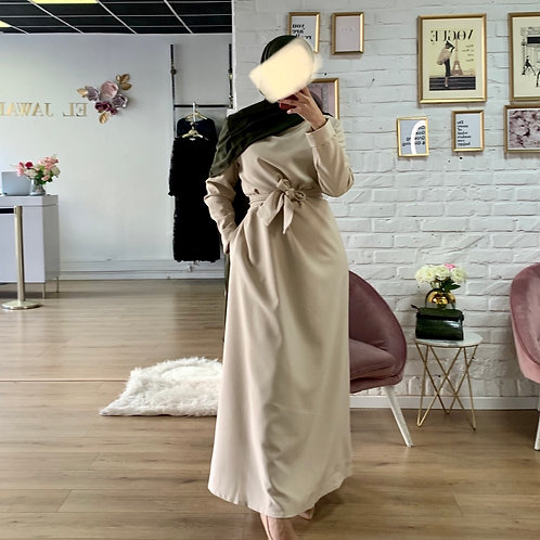 Abaya / Sous robe BASIC - Beige