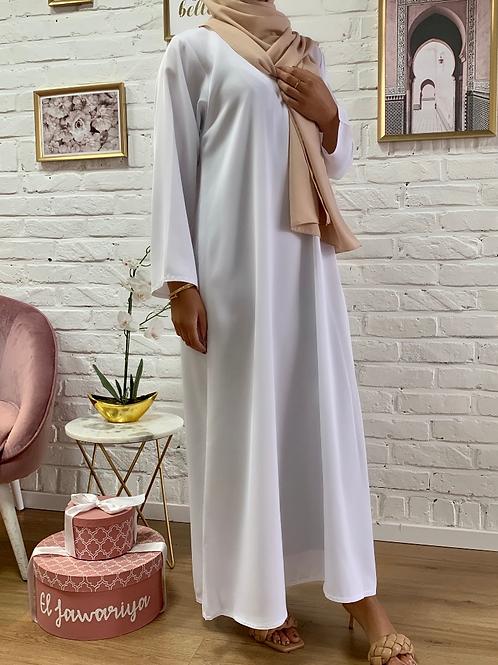 Abaya / Sous robe Nidha - Blanc