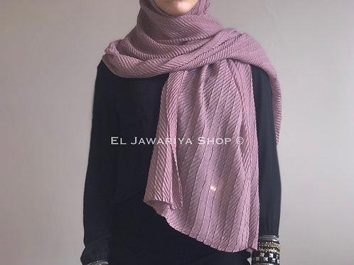 Maxi Hijab Gaufré Vieux rose