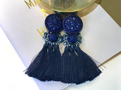 Boucle d'oreille Blossom Bleu marine