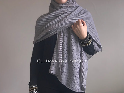 Maxi Hijab Gaufré Gris perle