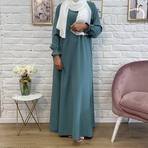 Abaya / Sous robe FLUIDE - Turquoise