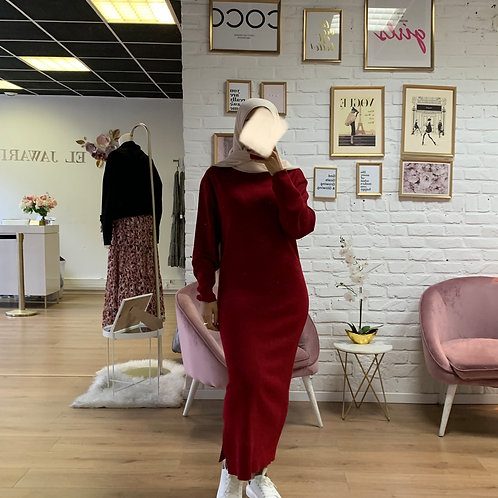 Robe pull KIM -Bordeaux