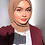 Thumbnail: Maxi Hijab à franges Marron choco