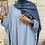 Thumbnail: Abaya FARASHA plissé - Bleu ciel