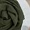 Thumbnail: Hijab Plissé mousseline Vert Kaki