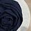 Thumbnail: Hijab Plissé mousseline Bleu Marine