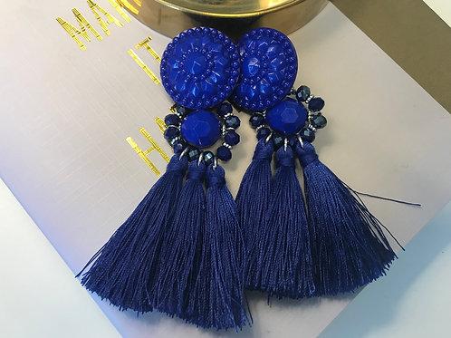 Boucle d'oreille Blossom Bleu Roi