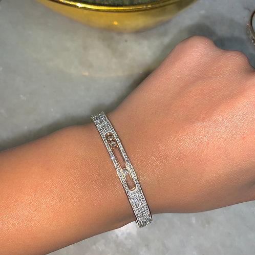 Bracelet MAYA Rose gold - STRASS