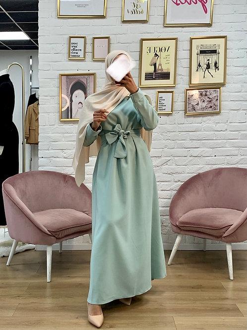 Abaya / Sous robe BASIC -  Vert d'eau