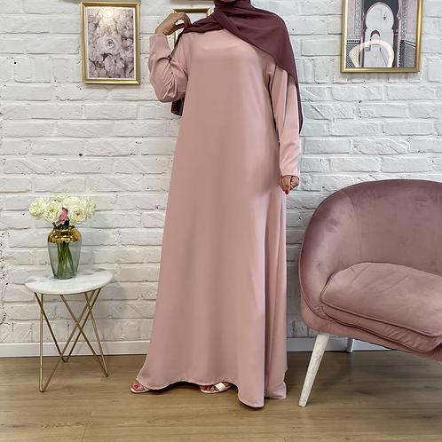 Abaya / Sous robe FLUIDE - Rose