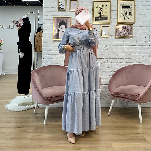 Robe PLUME - Gris Bleu