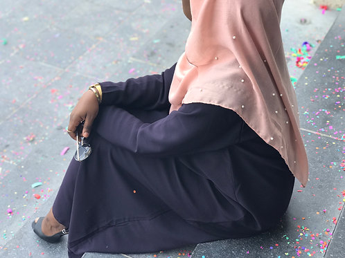 Maxi Hijab Perlé Rose Nude