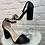 Thumbnail: Sandale à talon CROCO Noir