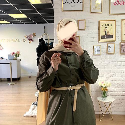 Robe / Chemise - Vert Kaki