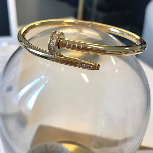 Bracelet CLOU Or-strass*Qualité supérieure*