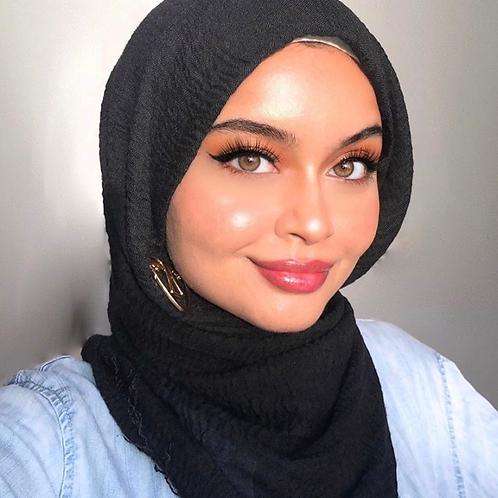 Maxi Hijab à franges Noir