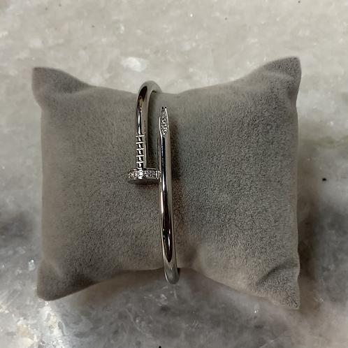 Bracelet CLOU Argent-strass