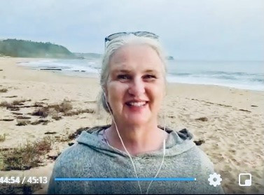 Sunrise Chakra Healing - Valentina live streaming at the beach