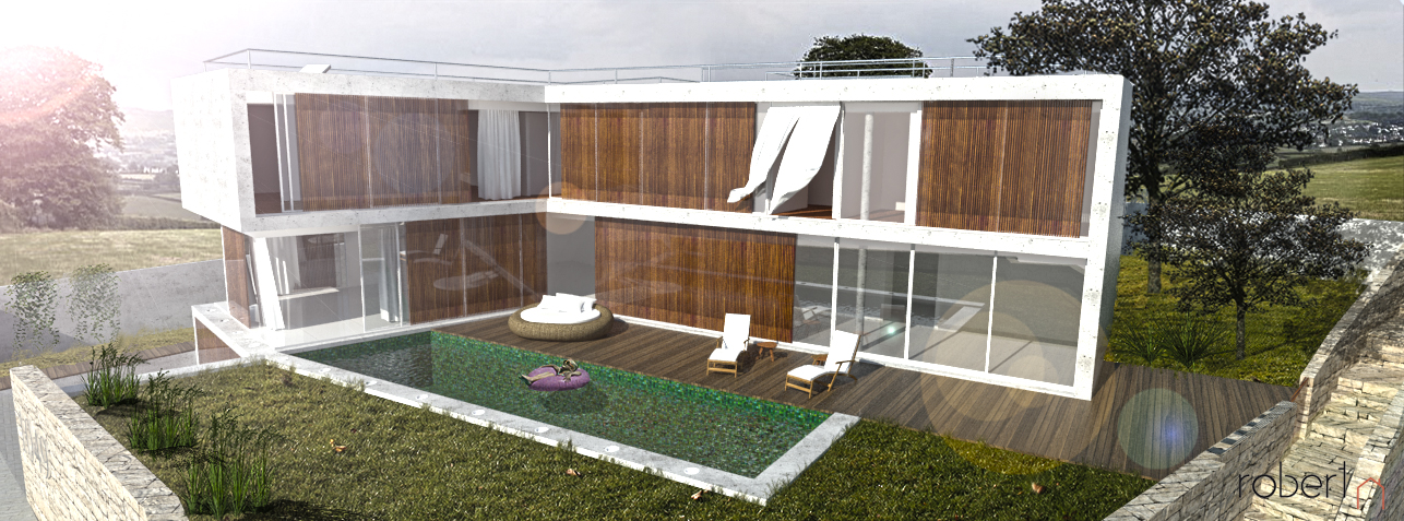 piscina i jardí