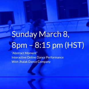 To Participate Click on Image for Zoom Link and Movement Score Information, March 8, 2020