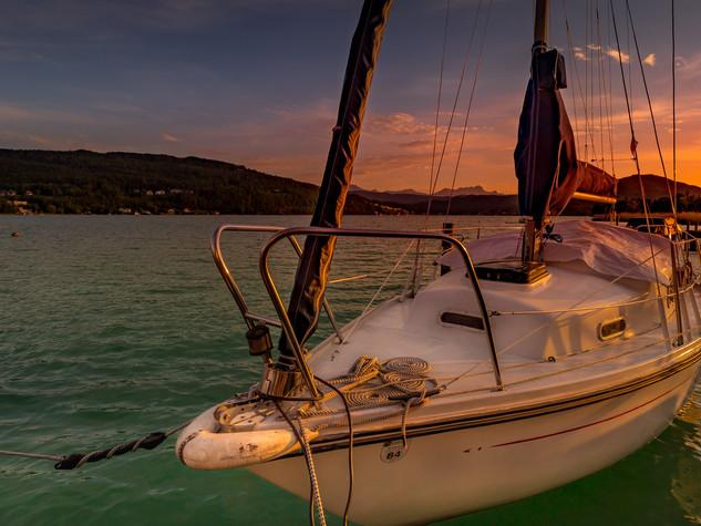 Wörthersee mit Segelboot
