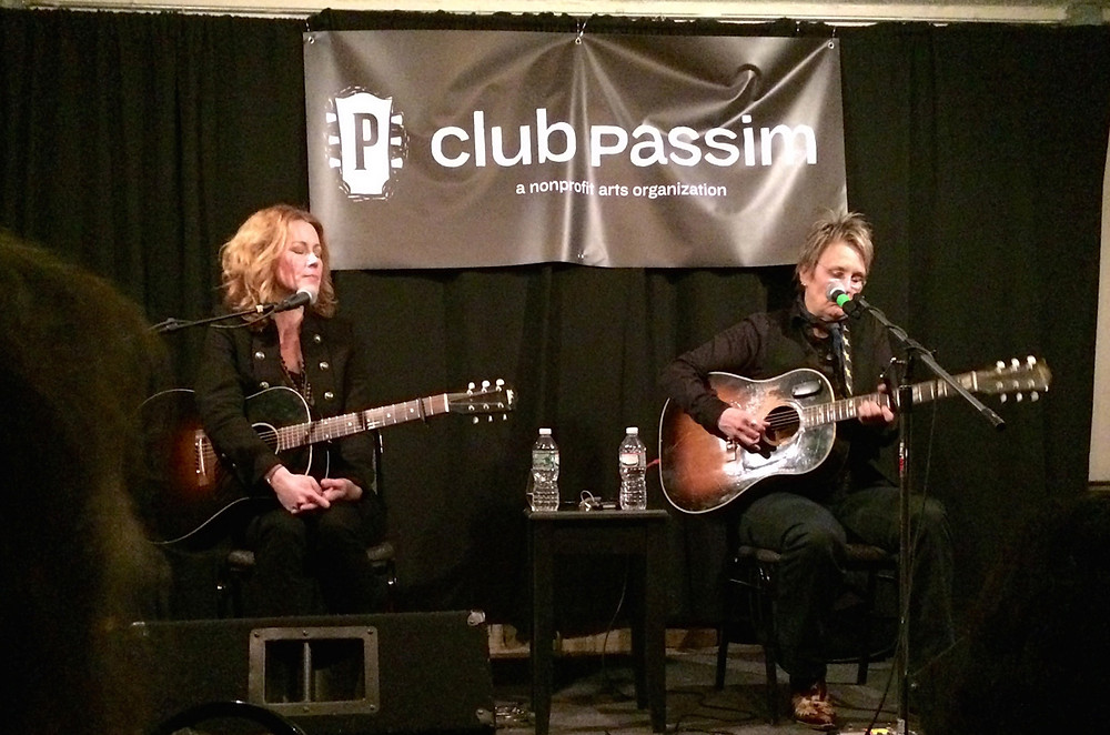 Allison Moorer and Mary Gauthier at Club Passim.