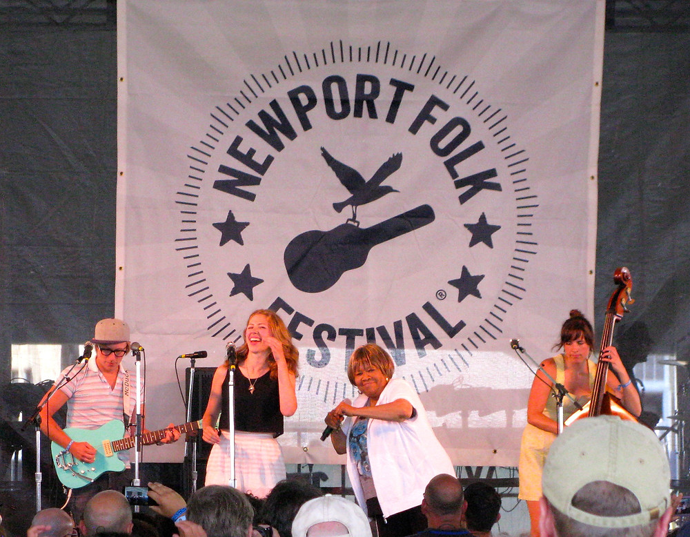 Mavis Staples joins Lake Street Dive at Newport.