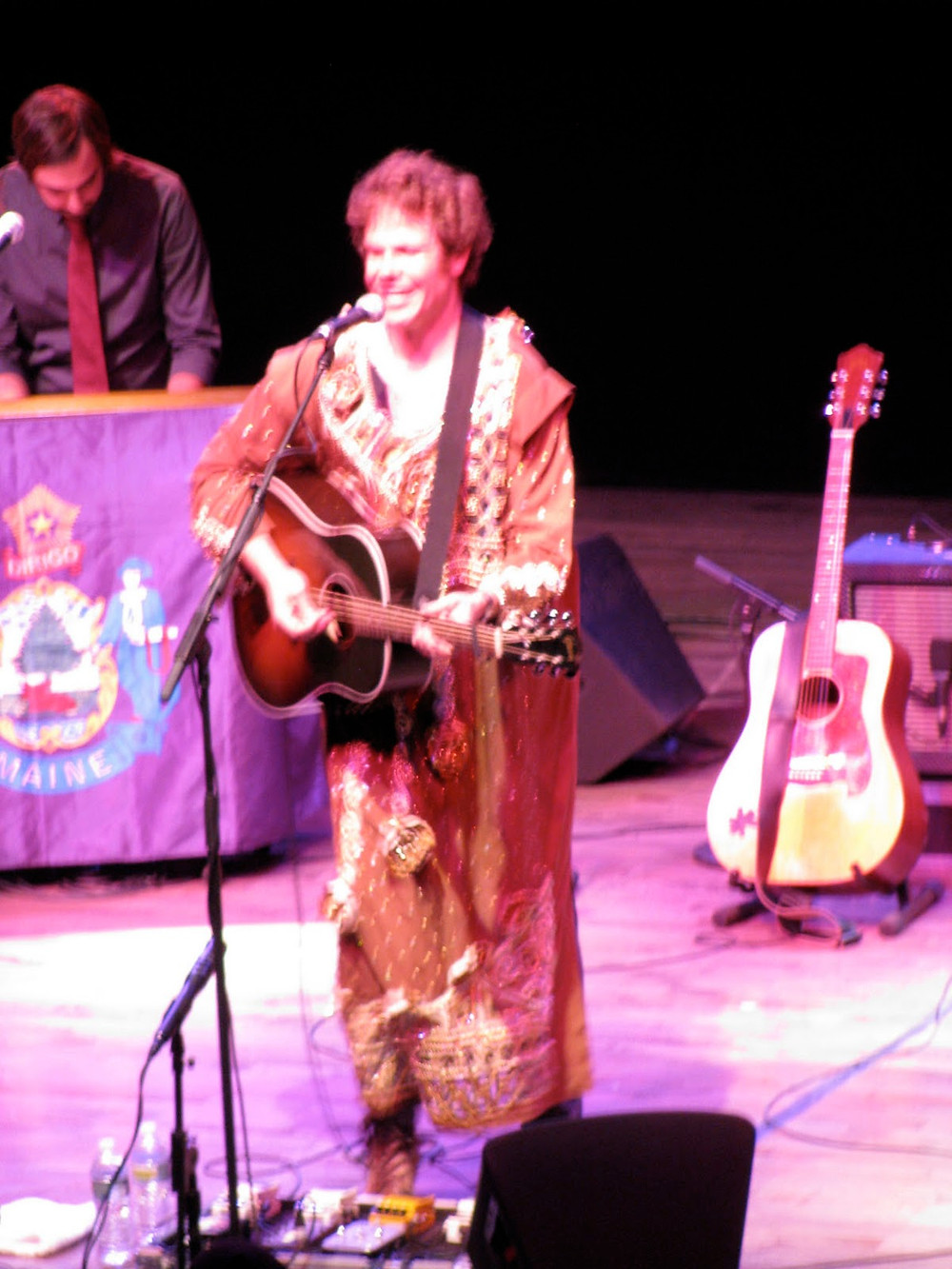 Josh Ritter dons a party dress in Portland, Maine.