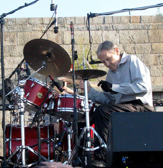 Levon Helm at the Newport Folk Festival.