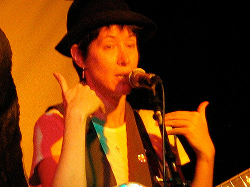 Michelle Shocked at Club Passim in 2008.
