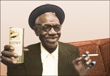 Furry Lewis (from a Falstaff beer ad).
