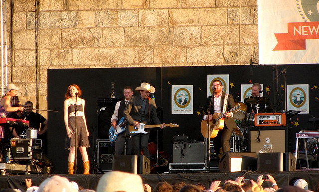 The Decemberists with Gillian Welch and David Rawlings at Newport.