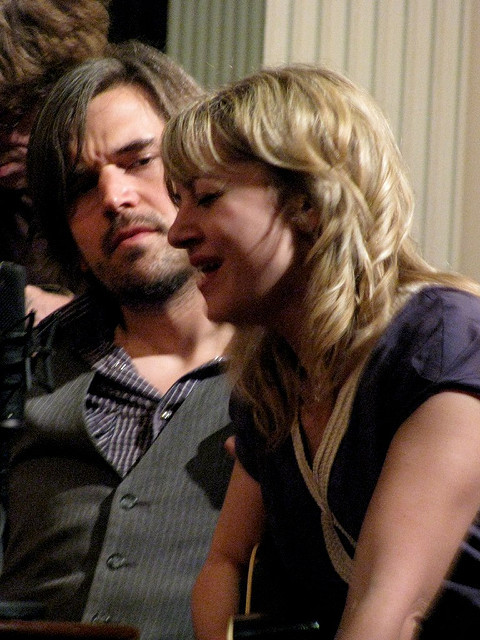Anais Mitchell and Jefferson Hamer at the Me & Thee Coffeehouse.