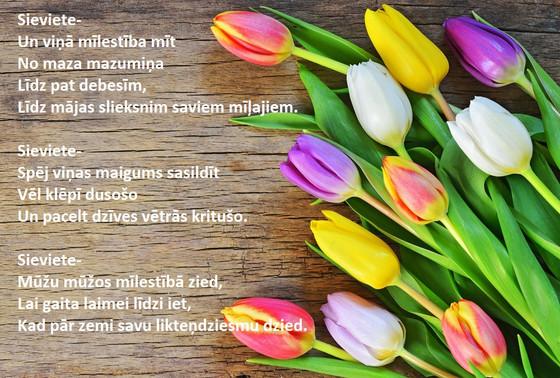 Mums - par mums sievietēm, ar mīlestību. Dalos ar Frančeskas dzejoli.