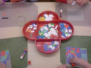 Pre-Primary:  Collaging and Creating….