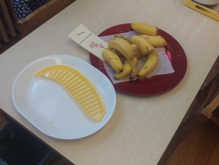 Pre-Primary:  Bananas Taste Better When They Are Sliced