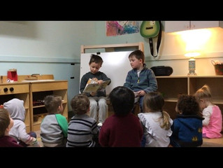 Jr/Sr Kindergarten: Reading to the Seedlings Class