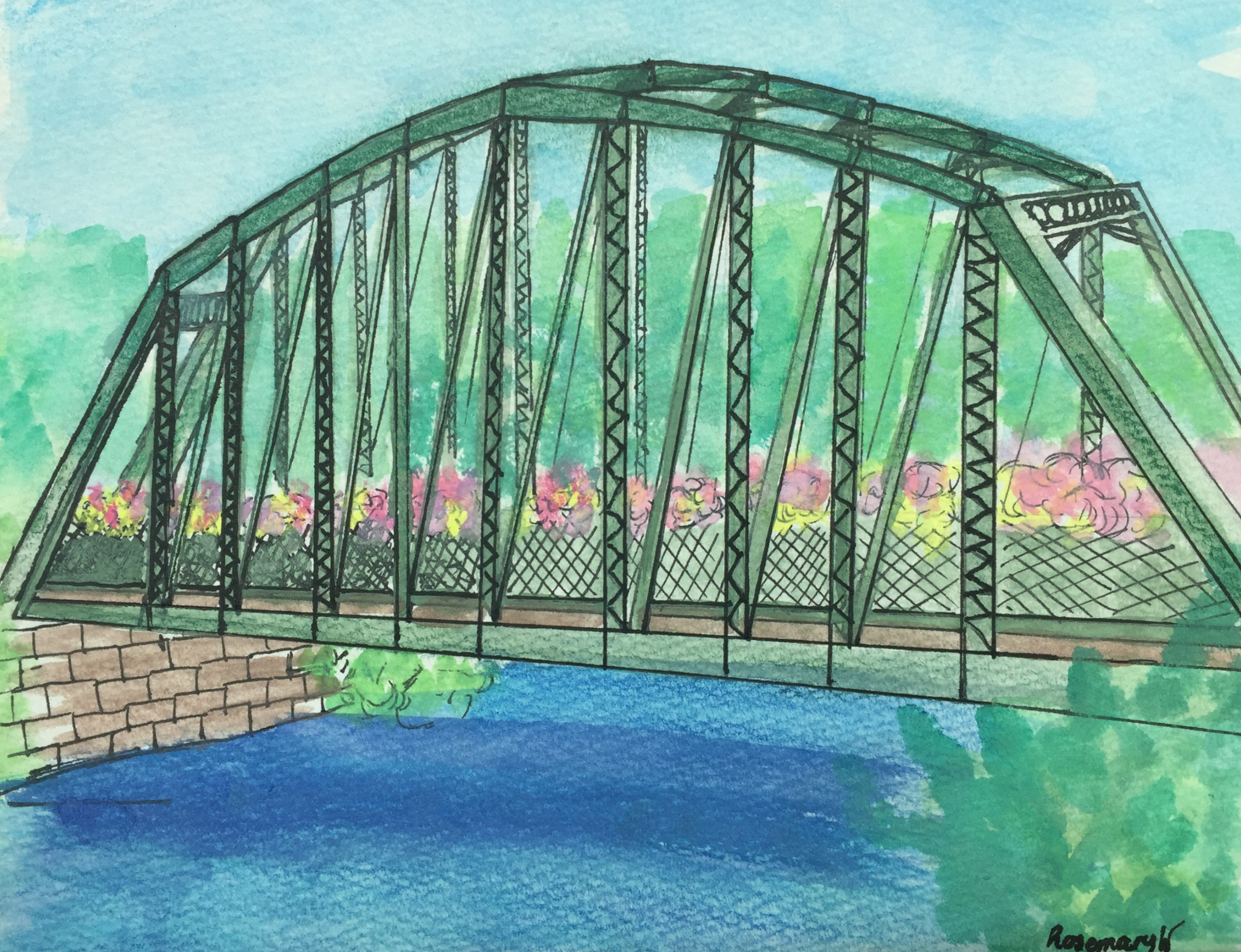 Flower Bridge, Simsbury