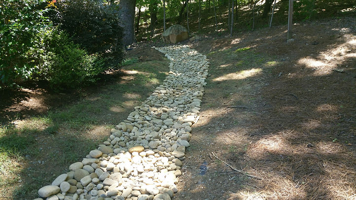 Dry Creek Bed Installation